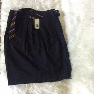 NWT brooks brothers navy wool pencil skirt